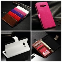 ace leather pouch - Fashion Crazy Horse Wallet Leather For Galaxy J1 MINI J1 ACE J110 J2 J200F J3 J300 J2 Oil Photo Frame Card Skin Card Stand Purse Pouch