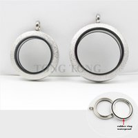 stainless steel charms - Waterproof mm mm screw top silver L stainless steel floating Charm locket with SPARKLE FACE