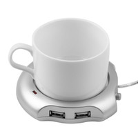 Wholesale Beverage Cup Silver Port USB Hub Tea Coffee Electric Warmer Heater