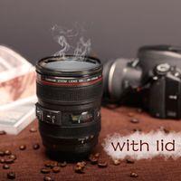 plastic tea cups - New Caniam SLR Camera Lens Cup mm Scale Plastic Coffee Tea Cup MUG ML Creative Cups And Mugs M102 MUG