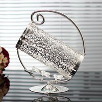 Wholesale Top rated silver plated wine shelf metal wine rack wine holder for ml wine bottle