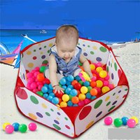 Cheap Kids Play Game House Foldable Tent Pool Children Tent Polka Dot Ocean Ball Pool Baby Educational Toys