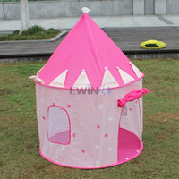 Wholesale Hot Selling Beautiful Pink Princess Castle Play Tent for Kids Children Playhouse Lightweight Portable