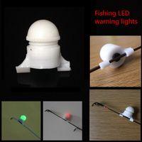 Wholesale 50pcs Mini Portable Sea Coarse Fishing Accessories LED Rod Tip Clip on Fish Bite Alarm night light strike Alert Glow Warning Bulb Lights