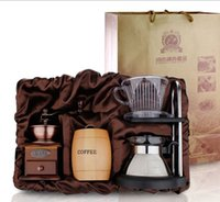 t cups - Manufacturers supply three piece gift box can be installed Moka coffee bean grinder cup of drip filter etc T