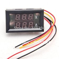Wholesale DC V A Dual LED Digital Volt meter Ammete Voltage AMP Power