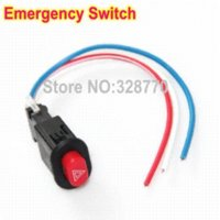 Wholesale ree Shipping DIY Universal Handlebar Motorcycle Power Switches Emergency Flash light Switch Lock Switch No Locking Switch motorcycle
