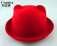 australia hat khaki - Fedoras marcas bob Australia pure wool high quality woman accessories chapeau hats for girls hat with ears character cap