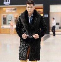 artificial fur coats - Fall Ultra Long Fox Fur Mink Fur Coat For Men Winter New Hot Faux Fur Coats Men s Black Jacket Artificial Rabbit Hair Overcoat