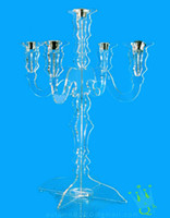 Wholesale CH acrylic x61cm votive wedding clear candelabra for