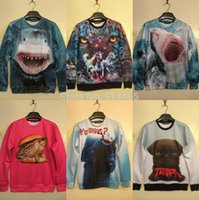 Wholesale Amy Newest Harajuku style Sweatshirt personality D Animal printed Men Hoodies long sleeve casual pullover size S XL