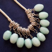 amazonite faceted beads - Intriguing Fashion Carved Tibet silver Faceted Amazonite Gem Pendant bead Bracelet And Necklace Accessories