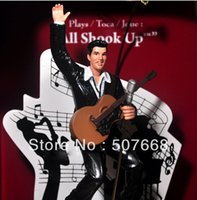 gift box ornament - Creative doll ornaments model gift Rock and roll elvis presley elvis flasher music box christmas gift version