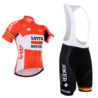 Wholesale Tour De France Lotto Cycling Jersey XS XL red color Bicycle Clothing Quick Dry Lycra GEL Pad MTB Bike Pants
