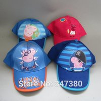 Cheap Peppa Pirate Pig Caps Spring Summer Hats for Boys Children Birthday Gifts 15pcs lot New Hot