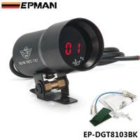 Instrument Gauges auto oil temperature gauges - EPMAN JDM Universal mm Micro Digital Gauge Auto Red Led Oil Temperature Gauges Car Vehicle Meter Black Color EP DGT8103BK