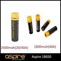 Wholesale Aspire Battery ICR V Li ion mah A mah A E Cig Battery Fitting For Aspire MOD Free DHL