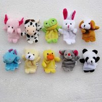 Wholesale Wholesales New Kids Puppy Finger Toys Newborn Cartoon Animal Action Figure plush Toys VT0013 smileseller