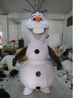 Wholesale Hot Sale New custom made olaf costume Olaf Mascot Costume for Adult EMS Olaf mascot