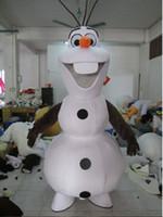 Nouveau costume fait sur commande de costume d'olaf Costume de mascotte d'Olaf pour la mascotte adulte de Olaf de SME Livraison gratuite