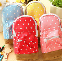 pen pouch - Backpack Shaped Pencil Bags Stationery Pen Bag Pencil Box Case Pouch Canvas DH