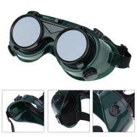 Wholesale Welding Solder Goggles With Flip up Darken Cutting Grinding Safety Steampunk Industrial Glasses