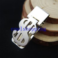 Wholesale Stainless Steel Dollar Shaped Slim Cash Money Credit Card Clip Holder Wallet