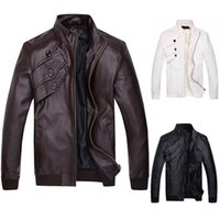 leather jackets for men - Fashion Korean Jackets for Men Outdoor Motorcycle Polyurethane Leather Jacket Coats Zipper CL7338