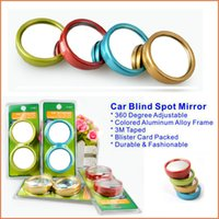 aluminum blinds - top quality Aluminum Alloy Convex Mirror Degree Adjustable Car Blind Spot Mirror Safe Driving styling
