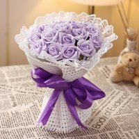 Wholesale 2015 New Design Hand Made Bridal Bouquets Rose Shape Fashion Decoration Hand Flower Wedding Celebrity Accessories