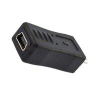 Wholesale Universal Mini USB Female to Micro USB Male Connector AdapterHot New Arrival