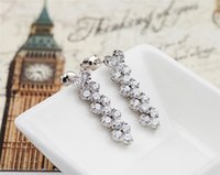 aa trade - hot Roman mosaic crystal earrings AA Films Carina Lau same paragraph earrings foreign trade gift