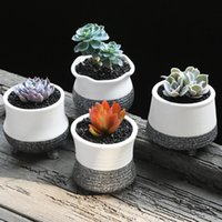 Wholesale Desktop Flowerpot mini ceramic plant pots snow glazed flower pots boxes floor decoration small cute planter pot