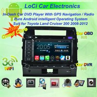 Wholesale Car dvd Multimedia radio android player for Toyota Land Cruiser autoradio CD gps navigation Pure android Quad Core