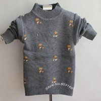 Wholesale New Arrival Bear Baby Sweater Kids Clothes Kids Sweater Babywear iso A9