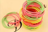 hair rubber band - Fluorescent color Yuanyang fastener fashion Hair Rubber Bands Bracelets