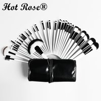 Wholesale HotRose Professional Makeup Brush Sets Cosmetics Brushes Eye Brow Powder Lipsticks Shadows Make Up Tool Kit Pouch Bag