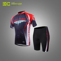 Wholesale BaseCamp Summer Cycling Clothing Set UV resistant Ciclismo Cycling Jersey Shorts Breathable Racing Bicycle Bike Clothing