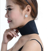 Wholesale Health Care Self Heating Tourmaline Magnetic Neck Heat Therapy Support Belt Wrap Brace Massager