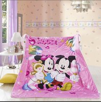 bear comforter - Mickey Minnie mouse little bear printing comforter duvet quilt cartoon cotton polyester filler for twin full queen beds Pc