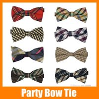 Wholesale 10 High quality Men s Cotton geometric Design Bow ties Men Vintage Wedding party pre tie Bow tie