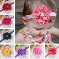 Wholesale Children Hair Accessories Headwear Embroidery Flash Sequins Beads Big Butterfly Knot With Children Elastic Hair Band Color