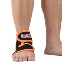 Wholesale 1PC Adjustable Neoprene Sports Gym Basketball Football Ankle Brace Support Protector Elastic Ankle Pad Wrap Guard order lt no track