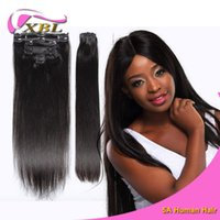 24 inch clip in human hair extensions - Clip In Hair Extensions Indian Remy Human Hair pieces Virgin Straight Human Hair Length Inch DHL Shipping XBLHair