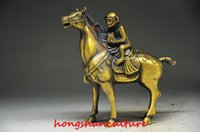 horse statue - EXCELLENT CHINESE COPPER HANDWORK STATUE MONKEY RIDING A HORSE