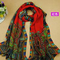 Wholesale Women fashion HOT New women scarf National Wind silk scarves polka velvet scarf chiffon Bohemia Scarf gift