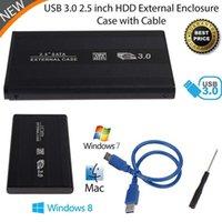 Wholesale Slim Aluminum inch SATA External External HDD SSD inch USB Hard Disk Drive Enclosure Case SATA ANG