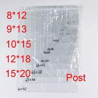 PE Bolsas de plástico transparente Zip cerraduras Ziplock Zipper Poly OPP Autoadhesivo sello embalaje Empaquetado para la venta al por menor Pequeño medio reciclable