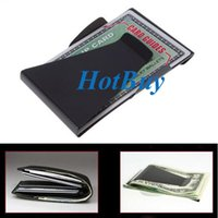 Wholesale Slim Stainless Steel Double Sided Money Clip Wallet Credit Card Holder