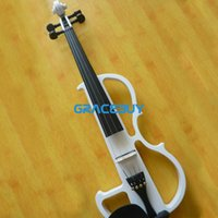 Wholesale Black White Professional Electronic Fiddle Violin For Sale Send With Headphone Rosin Case And Cable